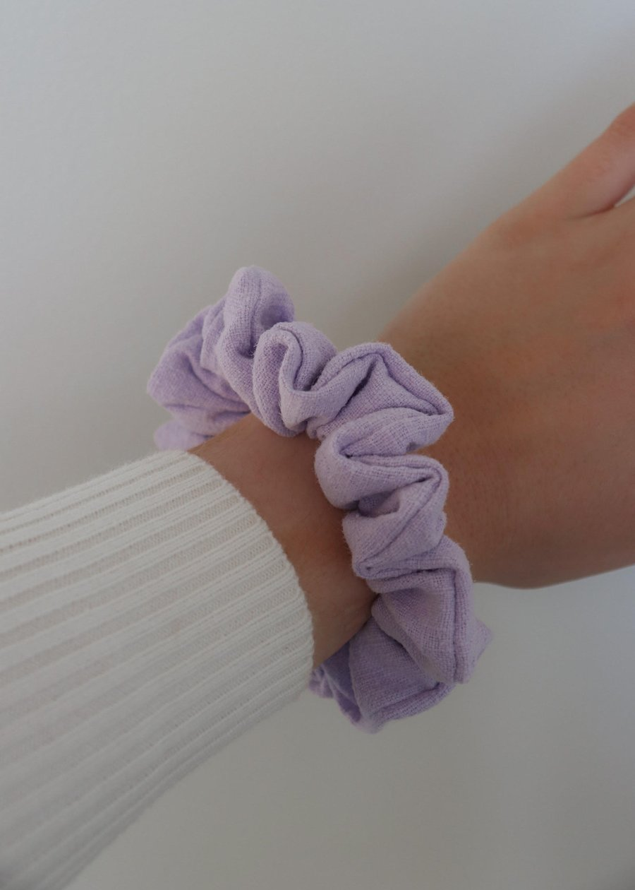 Sustainable Scrunch Lavender Hair Scrunchie