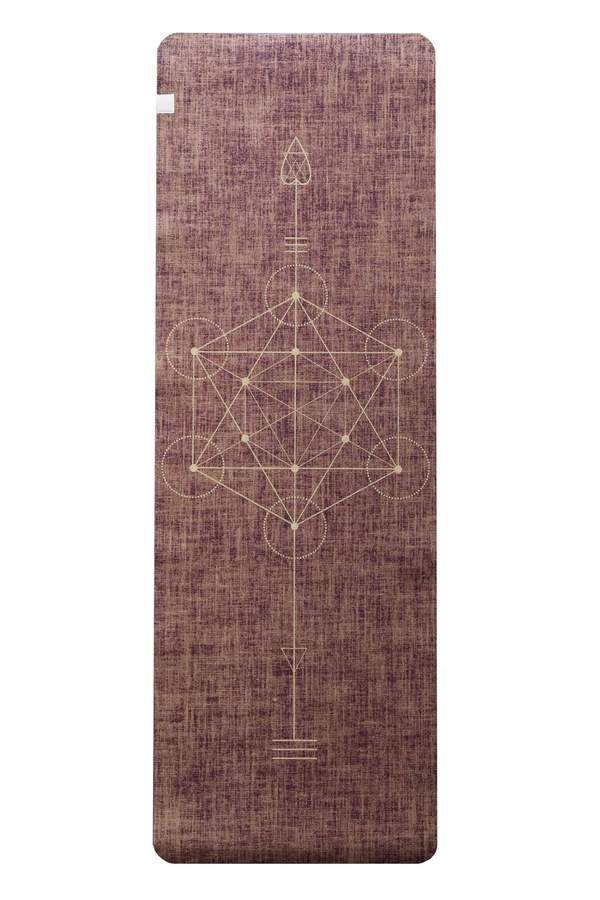 Metatron Red Wine Organic Jute 100% Eco YogaTribe Mat