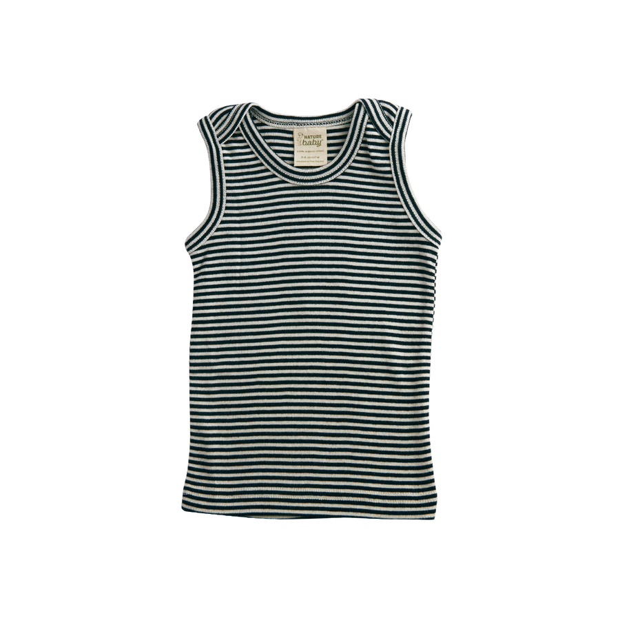 Singlet Navy Stripe