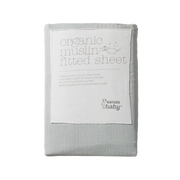 Fitted Sheet Muslin Sea