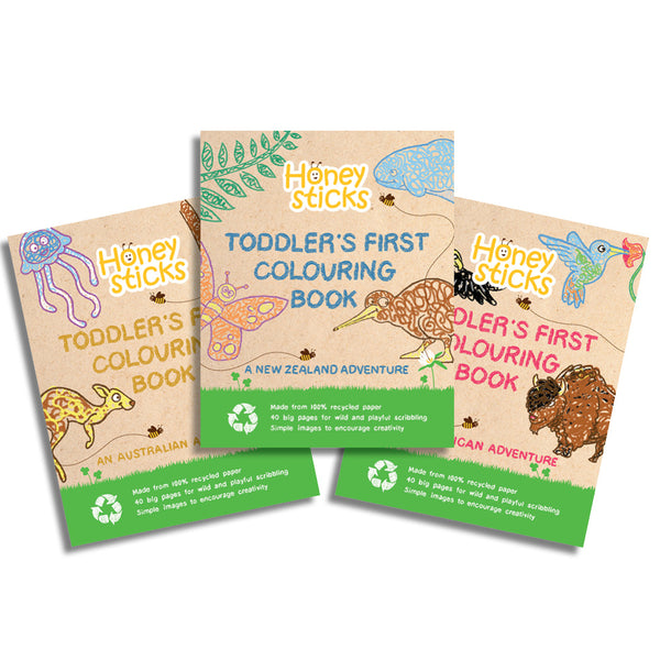Toddlers First Colouring In Book