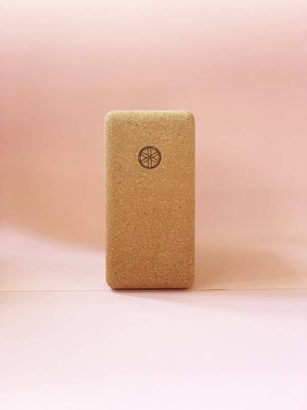 YogaTribe Branded Cork Yoga Block