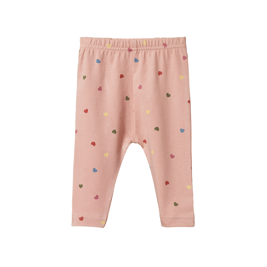 Nature Baby | Baby Leggings Heart Tulip Print