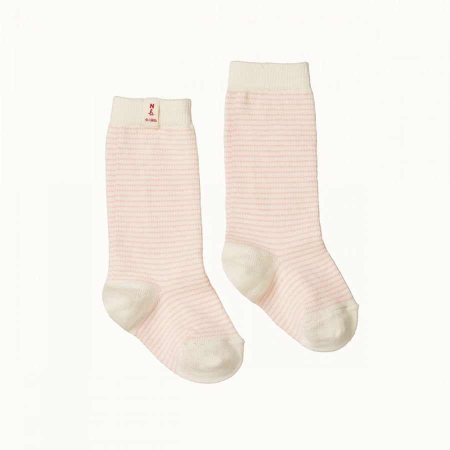 Organic Cotton Socks Pink Stripe