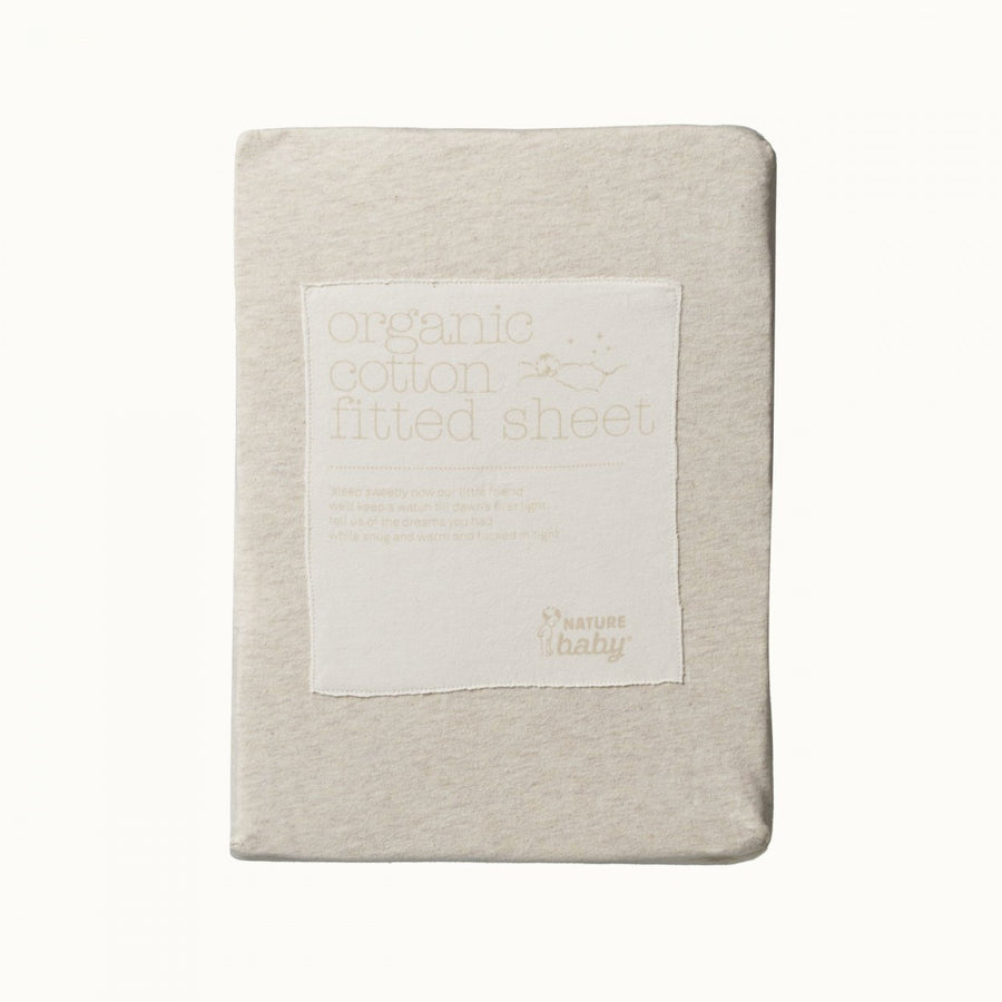 Fitted Sheet Jersey - Oatmeal Marl