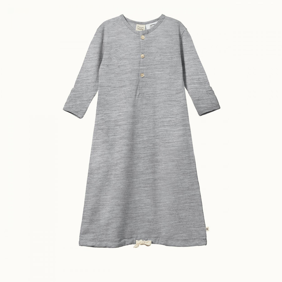 Merino Sleeping Gown Grey Marl
