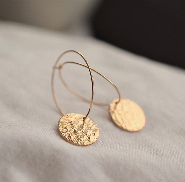 Gold Lace Hoops~ Love Winter