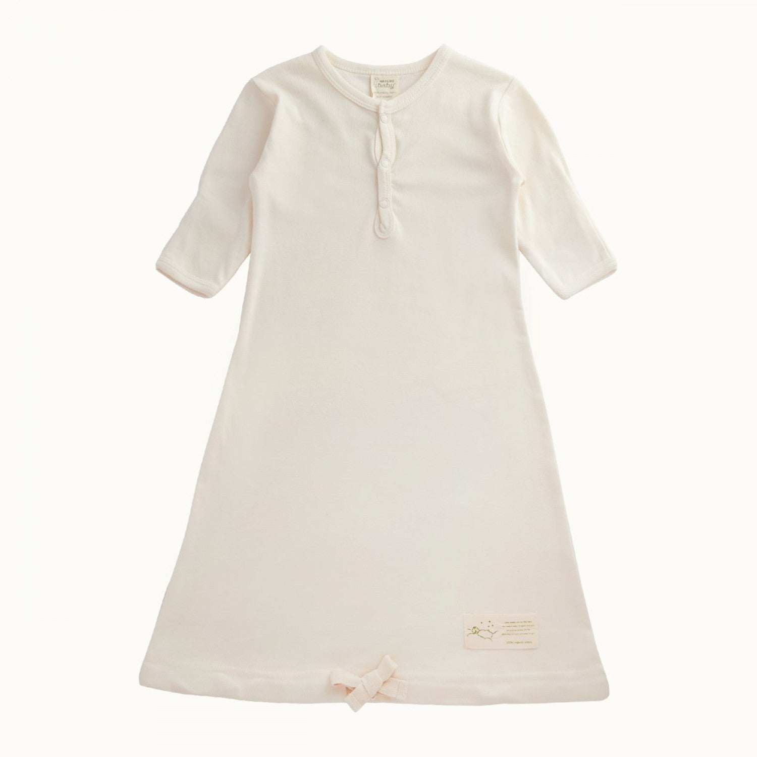 Cotton Sleeping Gown Natural