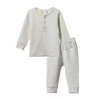 Nature Baby | 2 Piece Long Sleeve Waffle Pyjamas Light Grey Marl