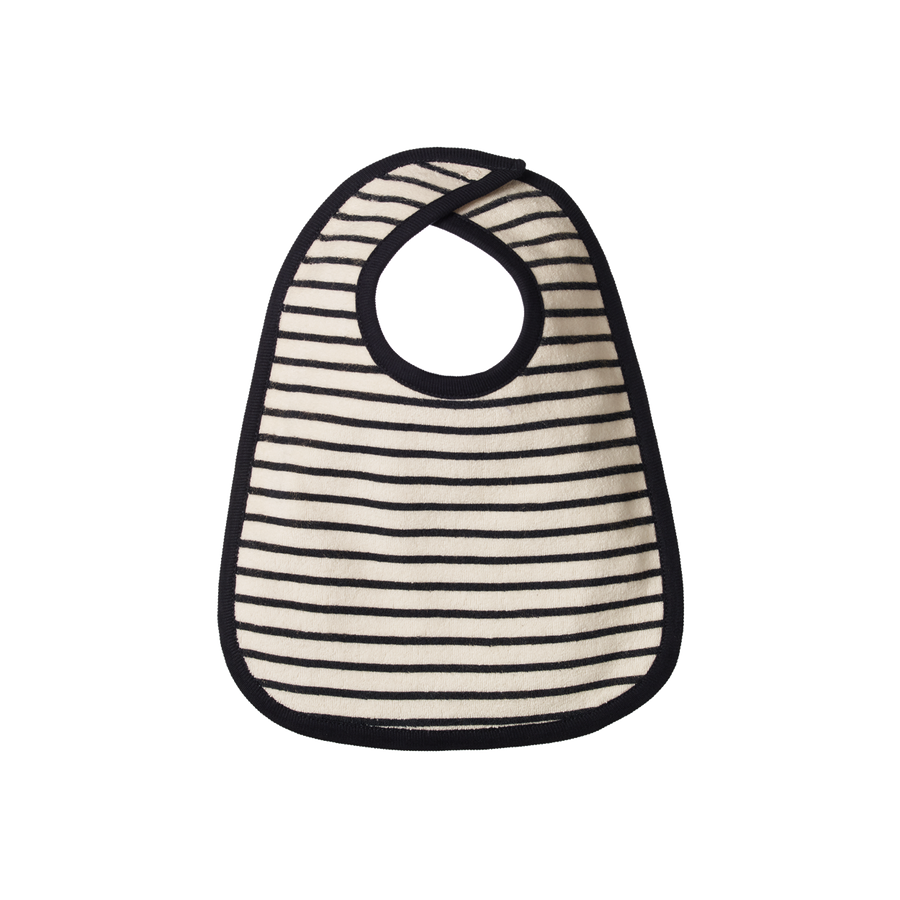 Reversible Bib, Navy Sailor Stripe