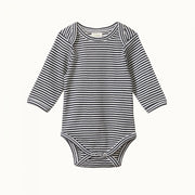 Long Sleeve Bodysuit Navy Stripe