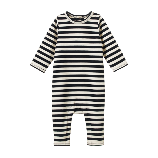 Nature Baby | Long Sleeve Quincey Romper Navy Sea