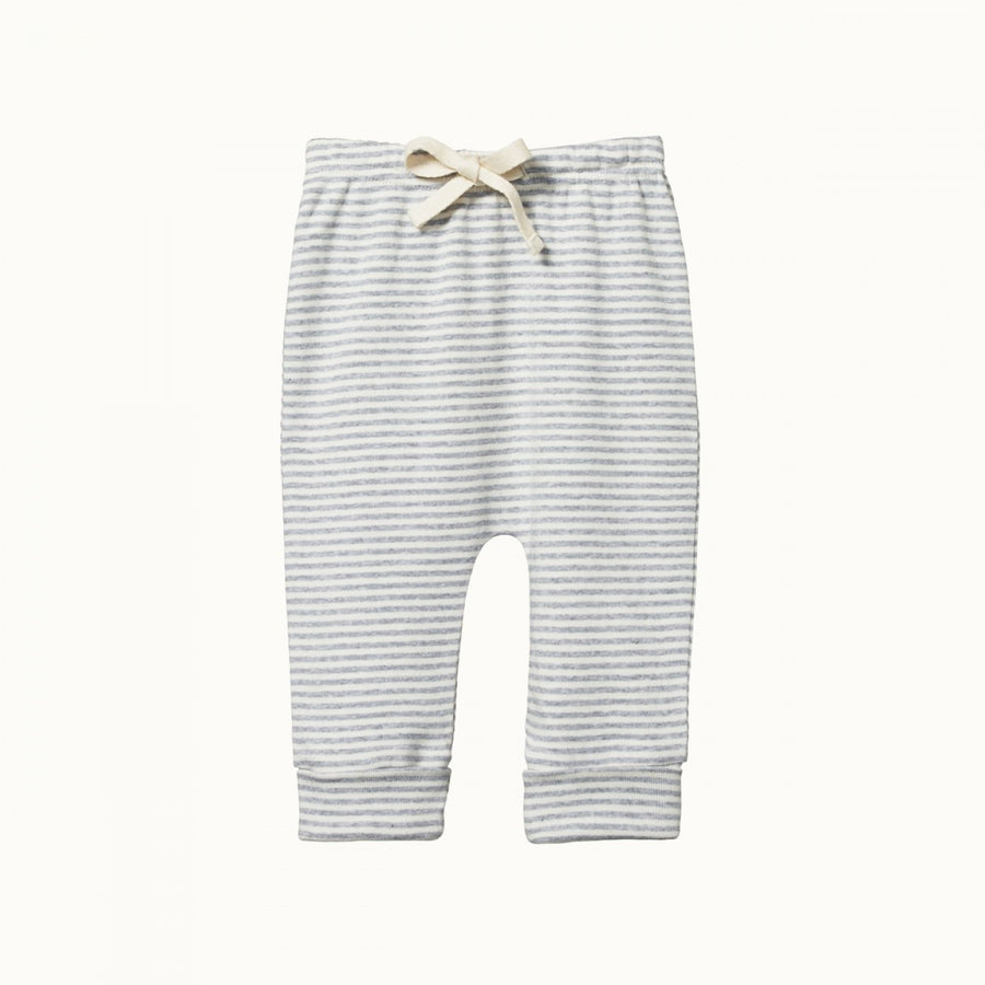 Drawstring Pants Grey Marl Stripe