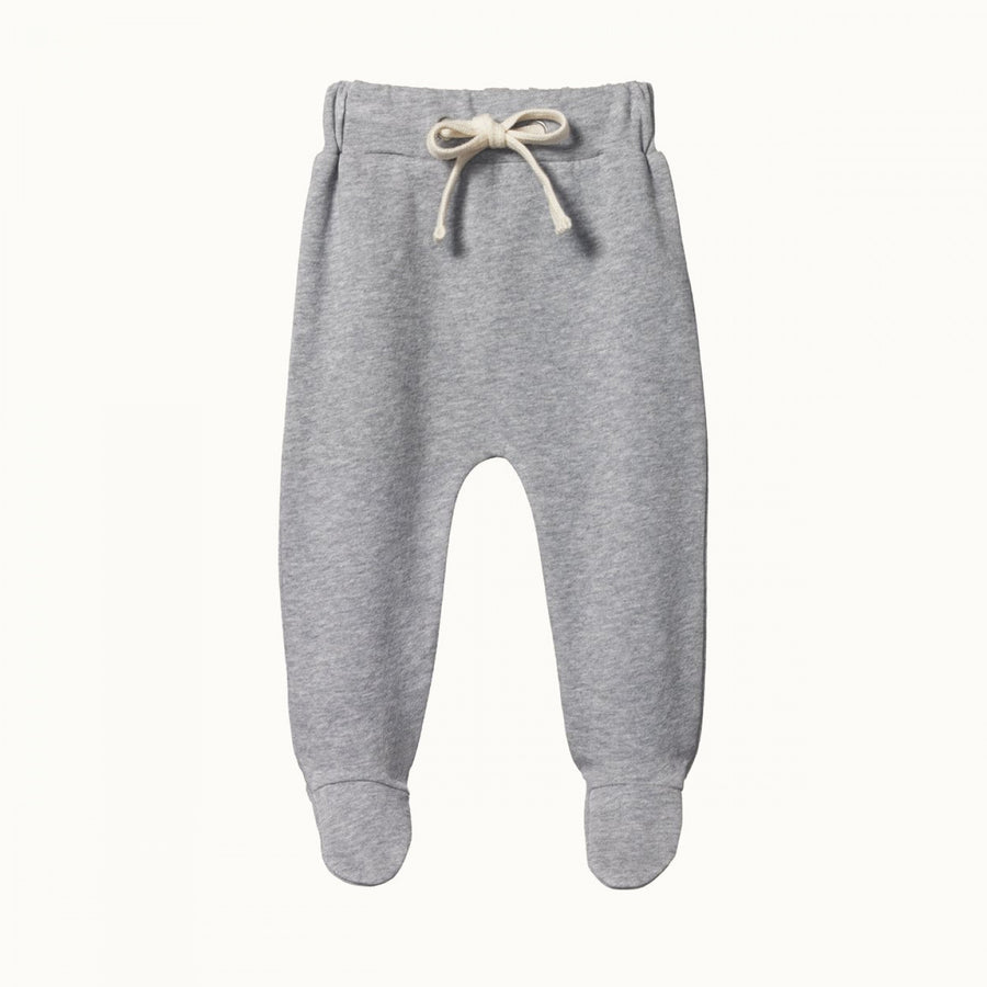 Sweatshirt Footed Rompers Grey Marl