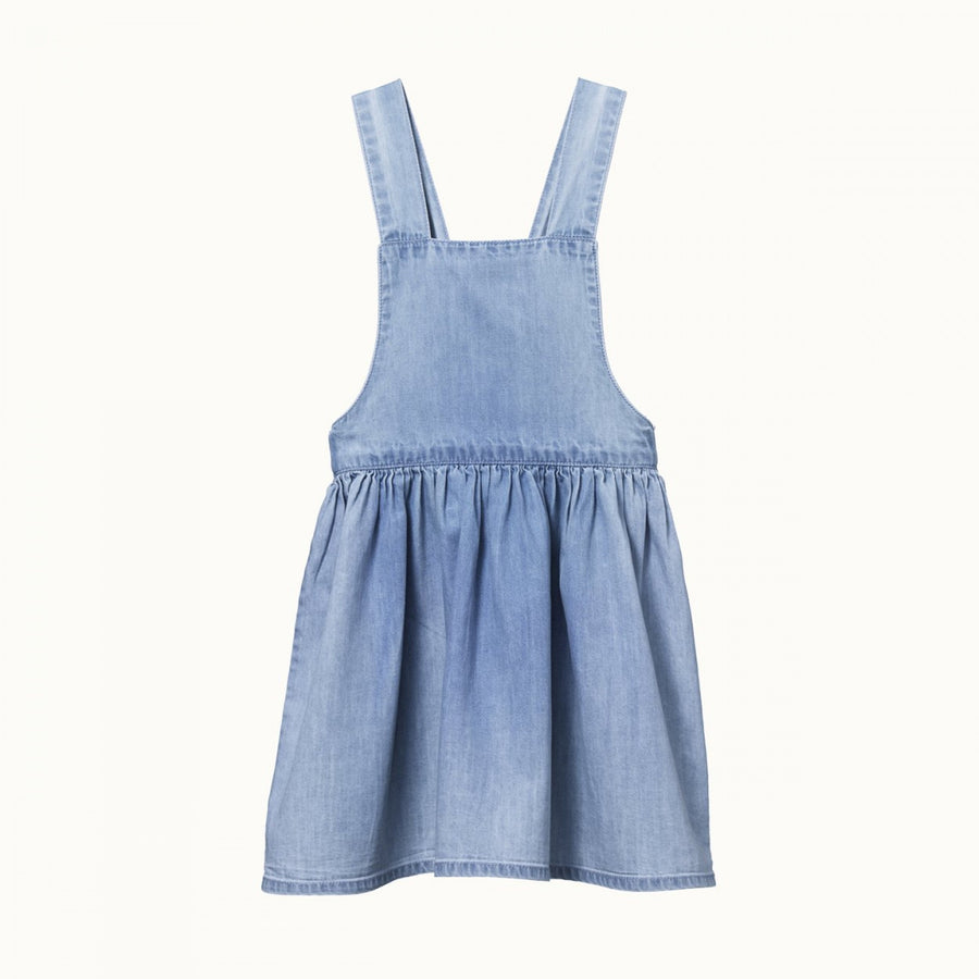 Pinafore Chambray Dress