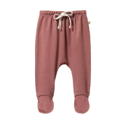 Nature Baby | Merino Footed Rompers Woodland Rose