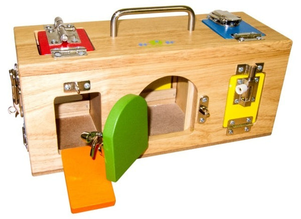 Original Lock Activity Box Wooden Toy