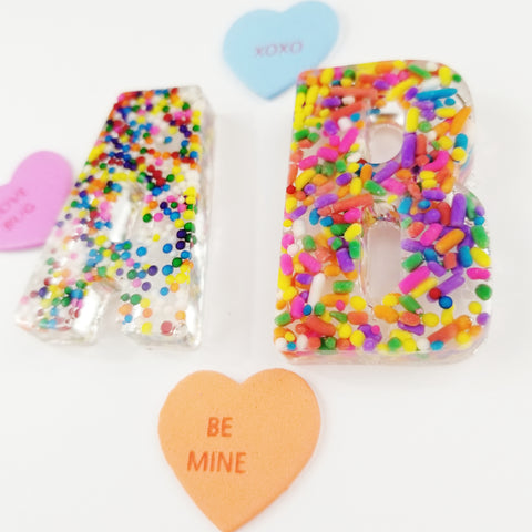 A Set of Large Uppercase Sprinkle Letters