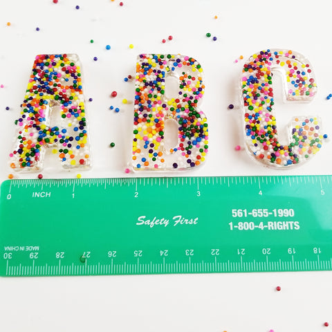 A Set of Large Sprinkle Letters