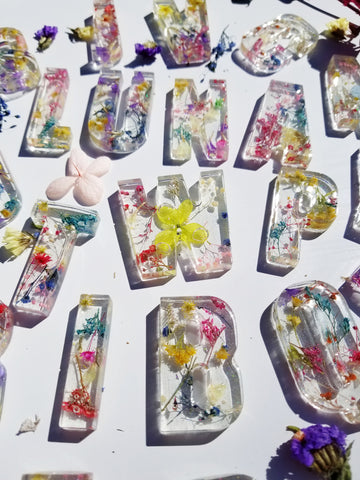 A set of Flower Power Alphabet Letters (UPPERCASE)