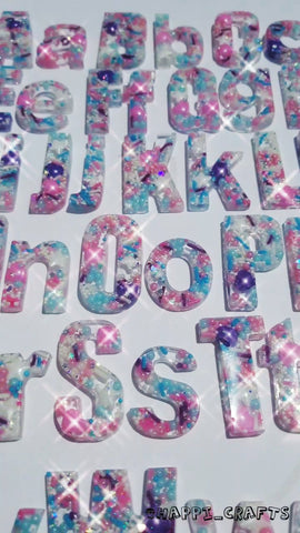 A Set of Super Sparkle Princess Sprinkle letters (Upper and lower case)