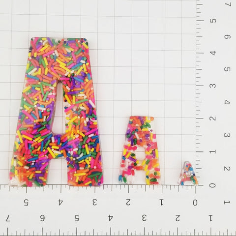 A set of Confetti Sprinkle Letters