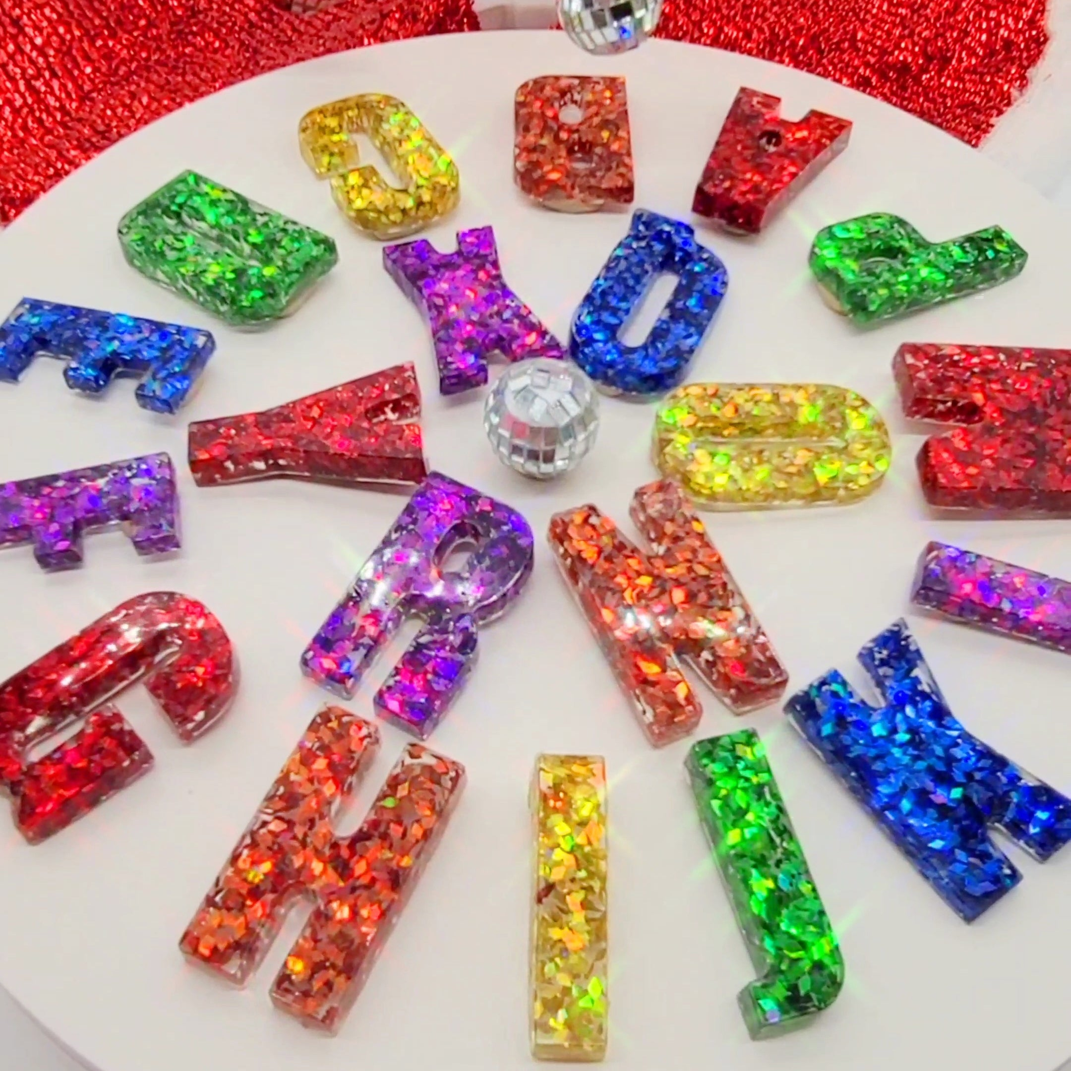 Disco Diamond Alphabet Set