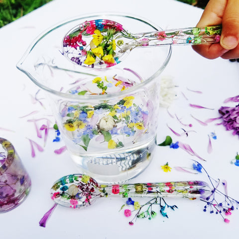 A Handmade Flower Spoon
