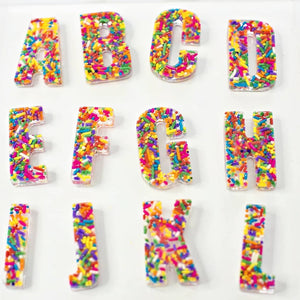 A Large Set of UPPER & LOWERCASE Sprinkle Letters