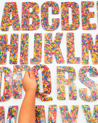 A Set of JUMBO SPRINKLE Letters (FULL Set A-Z)