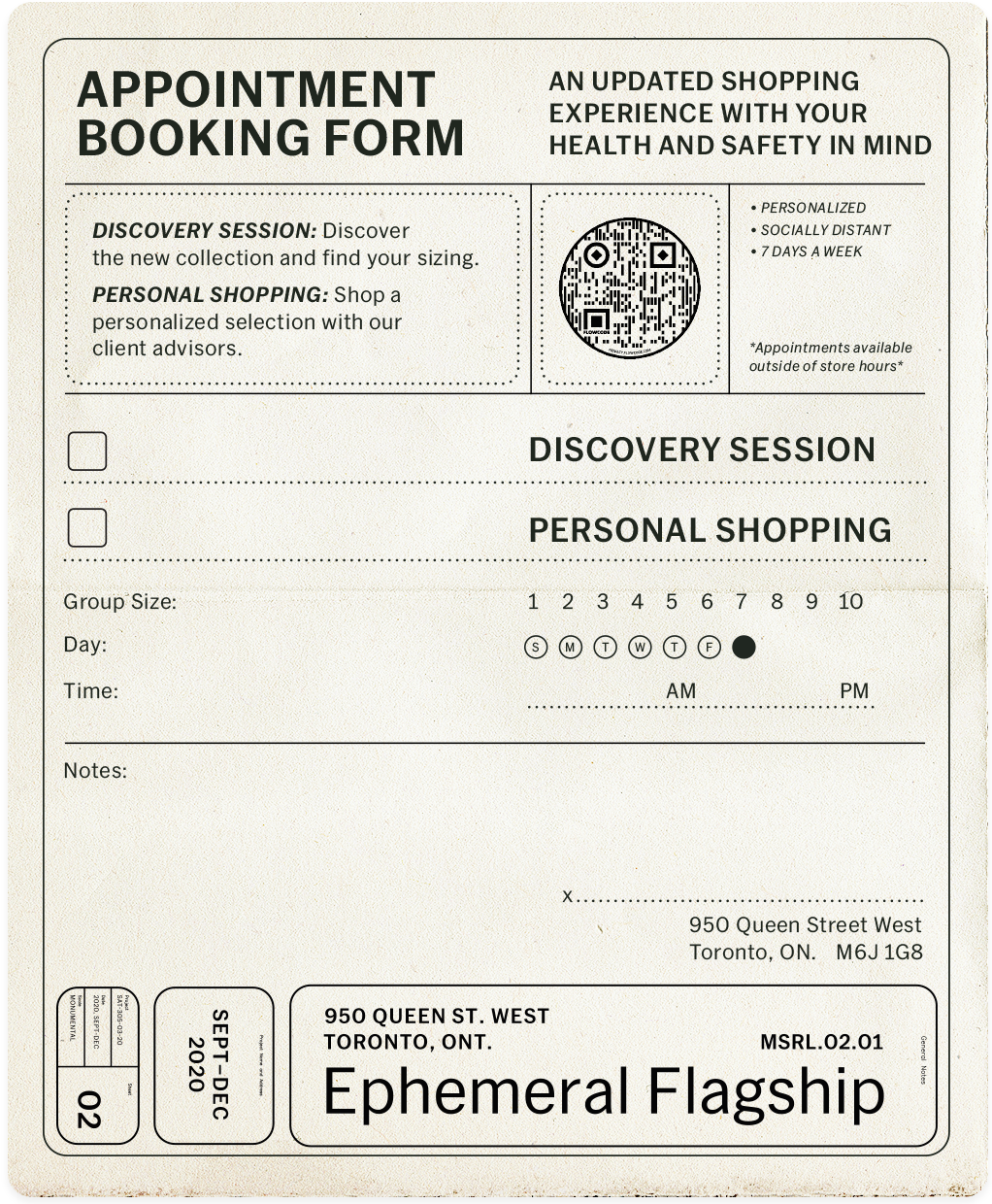 Mr. Saturday Appointment Booking Card