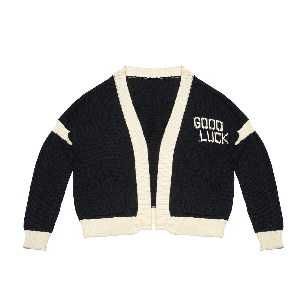 MSFW20.15.01 Good Luck Cardigan - Black/Cream