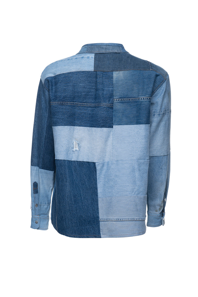 MSFW20.11.01 Patchwork Denim Overshirt