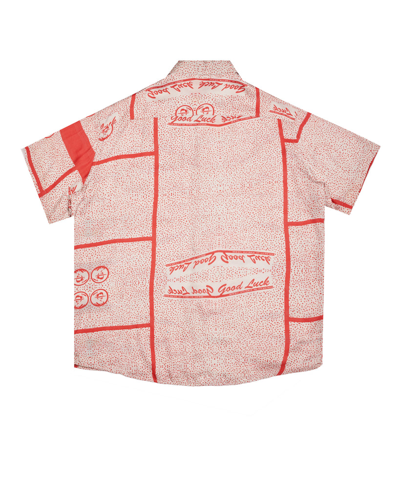 MSSS21.11.07 Printed Cupro Short Sleeve Button-Up