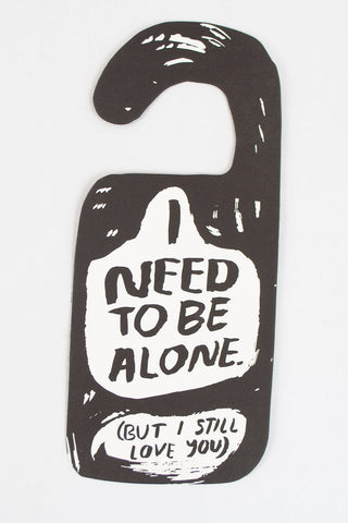 Alone Time Door Hanger