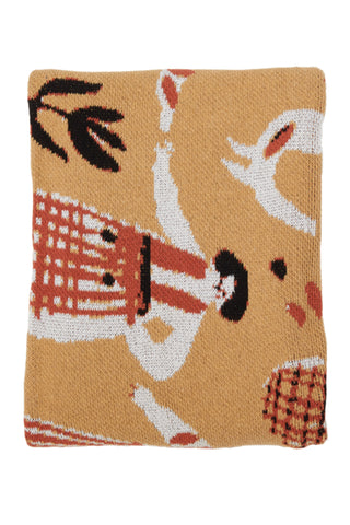 Hillery Sproatt Straw Forest Friends Throw