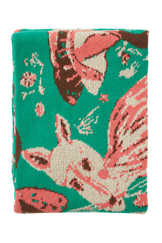 Hillery Sproatt Emerald Mushroom Throw