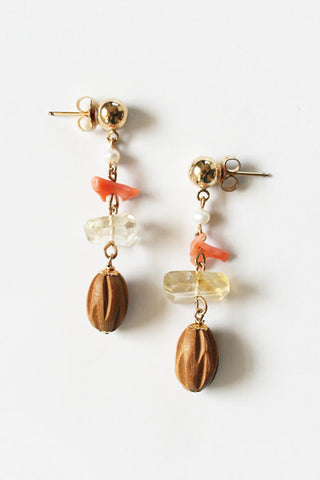 Natural Bauble Earrings