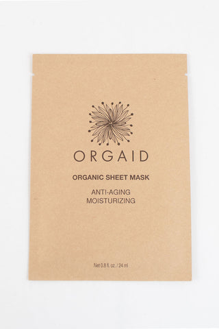 Orgaid Organic Sheet Mask Anti-Aging Moisturizing: This hydrating sheet mask contains organic botanicals your skin will want to drink up. Fight the effects of aging, irritation, and dryness! Best for drying and aging skin types.