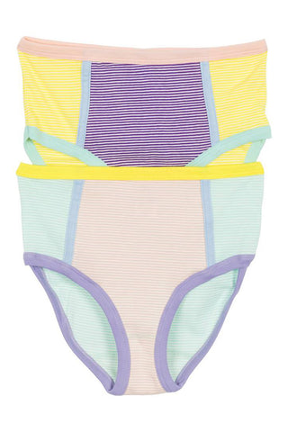 Multicolor Striped Briefs