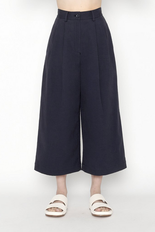 High Rise Pleated Skate Trouser