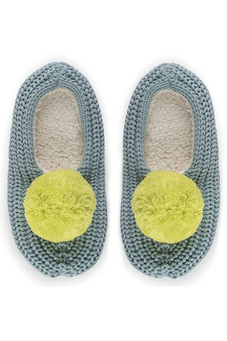 Pom Ribbed Slippers