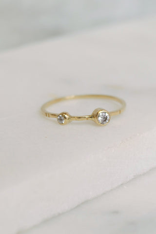 White Diamond Estrella Ring