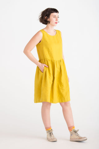 Loose Linen Sleeveless Dress