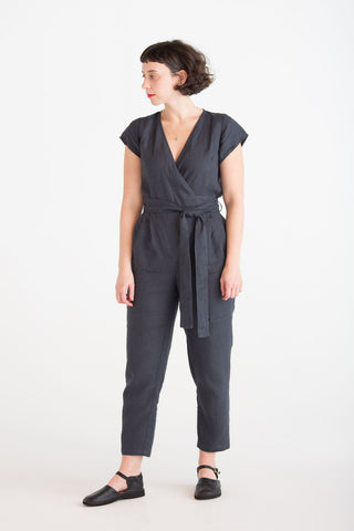 Linen Wrap Jumpsuit