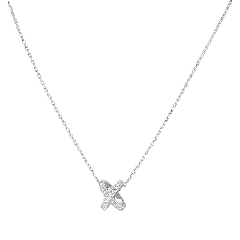Jeux de Liens pendant in white gold, set with brilliant-cut diamonds