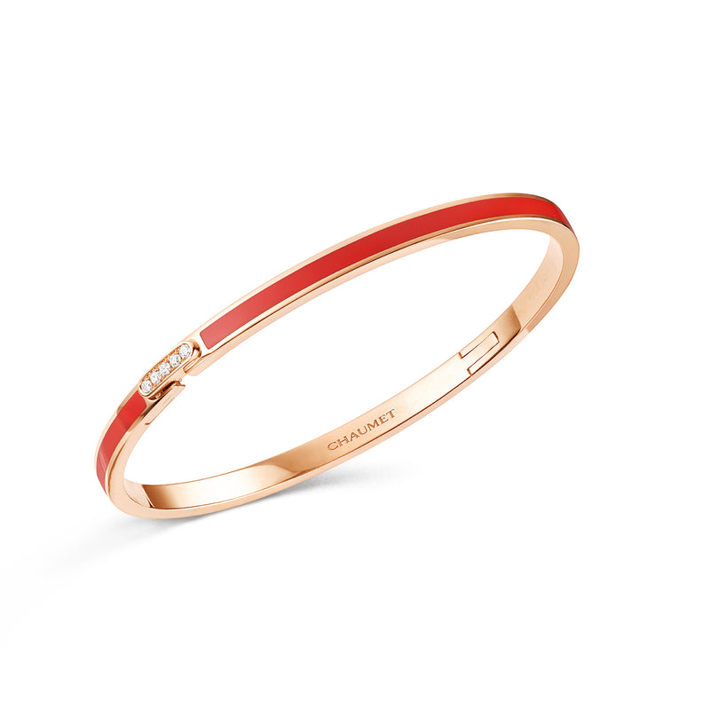 Liens Évidence Bracelet in Pink Gold, with Diamonds