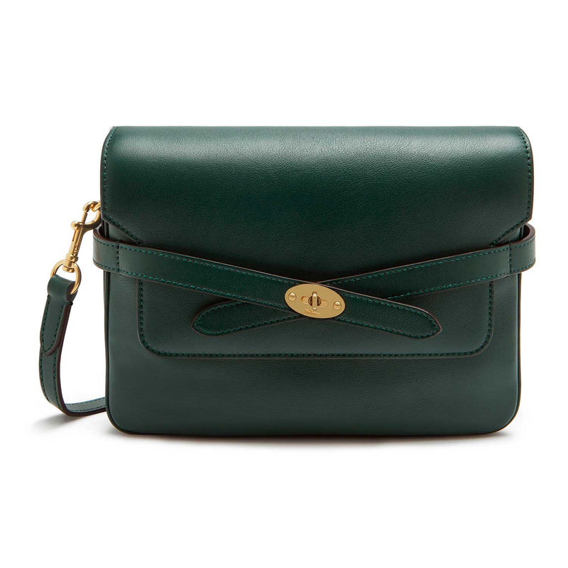 Belted Bayswater Satchel Silky Calf