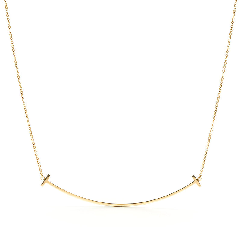 Tiffany T Smile pendant in 18k yellow gold, large