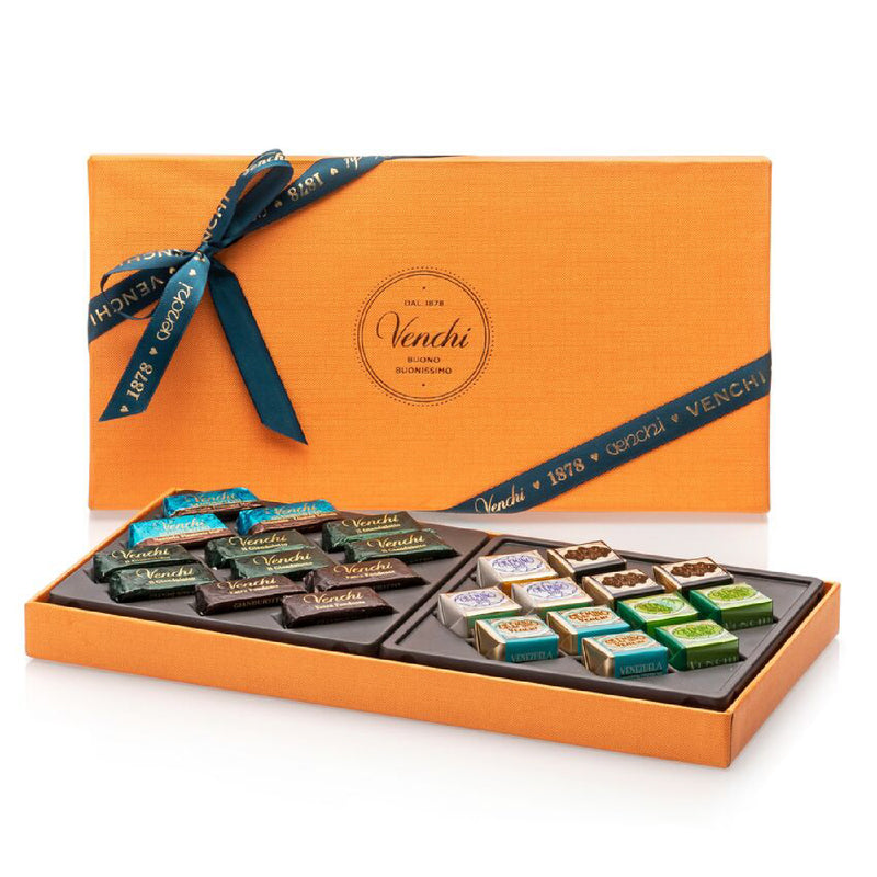 Assorted Giandujotti And Cremini Orange Rectangular Box 240g